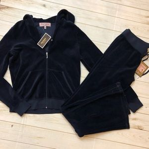 Women's Juicy Couture Navy Jacket/pants set NWT